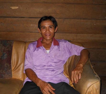 Markus, salah seorang Tokoh Masyarakat Dusun Silap